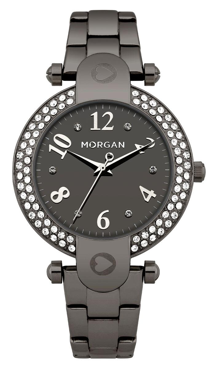 Наручные часы женские Morgan, цвет: черный. M1156BMM1156BMТрехстрелочный механизм Miyota; Сталь; IP-покрытие черного цвета; Полированный корпус; Минеральное стекло; Зеркальный черный циферблат; Чешские кристаллы; Браслет сталь; Водозащита 3 ATM