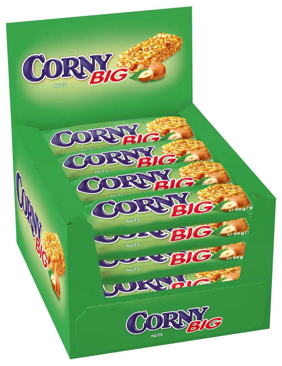 Corny полоска злаковая с лесными орехами, 24 шт