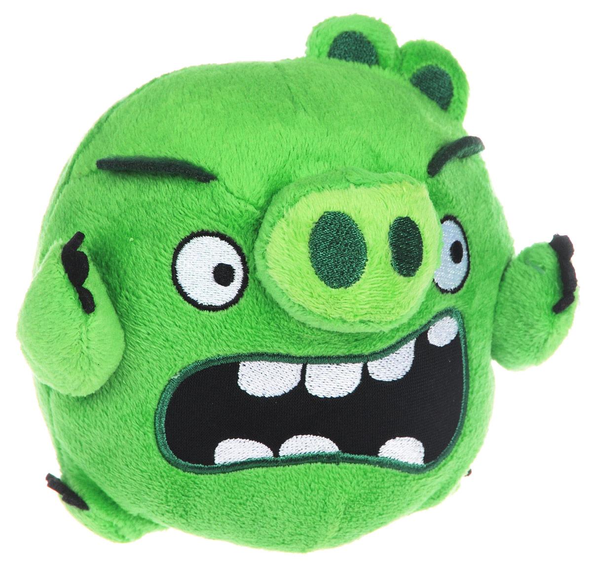 Angry Birds Мягкая игрушка Свинья 13 см90513_зелёныйAngry Birds - одна из самых популярных игр на мобильных устройствах. Яркие и запоминающиеся персонажи этой аркады уже давно полюбились многочисленным фанатам. Невероятно приятная на ощупь игрушка выполнена в виде главного злодея и отрицательного персонажа игры - зеленой свинки. Игрушка выполнена из качественных и безопасных материалов. Свинка обязательно порадует вас и вашего малыша.