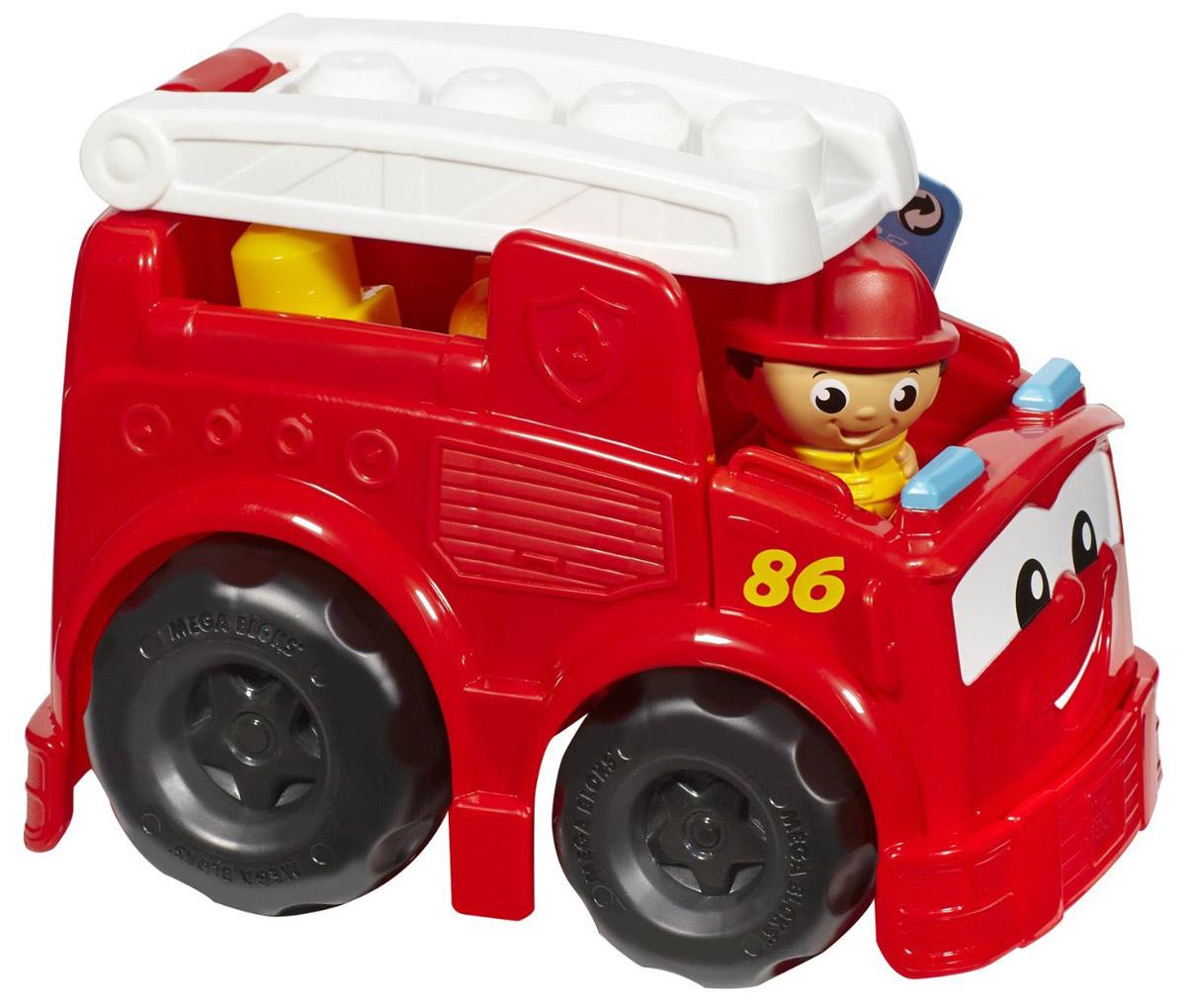 Mega Bloks First Builders Конструктор Пожарная машина ФреддиCND62_CND63Конструктор Mega Bloks First Builders Пожарная машина Фредди привлечет внимание вашего ребенка и не позволит ему скучать. Он включает в себя пожарную машину, фигурку пожарного и элементы конструктора. У пожарной машинки поднимается и опускается лестница. На лестнице легко фиксируется фигурка пожарного. Элементы конструктора крупные, их удобно брать и держать маленькими детскими ручками. Они легко соединяются и разъединяются. Ваш ребенок часами будет играть с набором, придумывая разные истории. Совместим со всеми наборами Mega Bloks First Builders.