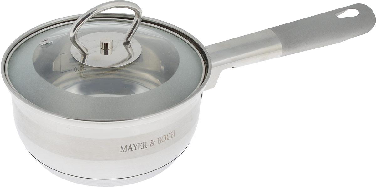 Сотейник Mayer & Boch с крышкой, 1 л25402Сотейник Mayer & Boch изготовлен из высококачественной нержавеющей стали. Комбинация зеркальной и матовой полировки придает посуде безупречный внешний вид. Гладкая, идеально ровная поверхность легко очищается. Сотейник предназначен для здорового и экологического приготовления пищи. Удобная ручка имеет матовое покрытие и отверстие для подвешивания на крючок. Внутренние стенки имеют отметки литража. Крышка выполнена из термостойкого стекла, снабжена металлическим ободом и отверстием для выпуска пара. Сотейник можно использовать на всех типах плит, включая индукционные. Можно мыть в посудомоечной посуде. Диаметр (по верхнему краю): 14 см. Высота стенки: 7,5 см. Длина ручки: 15 см. УВАЖАЕМЫЕ КЛИЕНТЫ! Обращаем ваше внимание на тот факт, что объем указан максимальный, с учетом полного наполнения до кромки. Шкала на внутренней стенке изделия имеет меньший литраж.