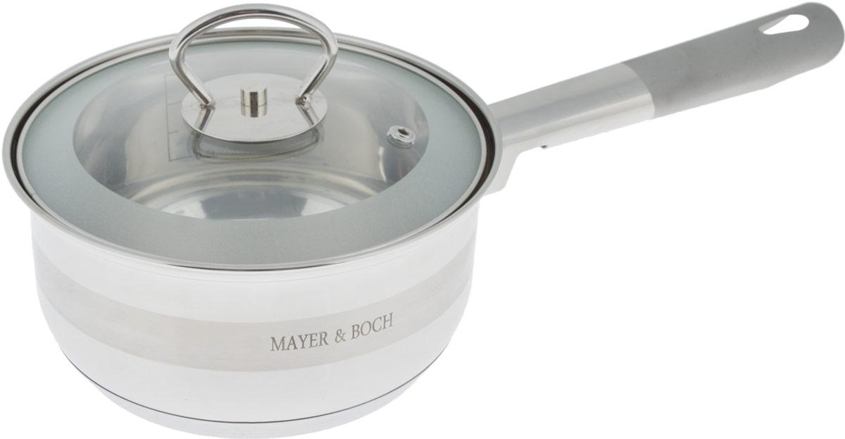 Сотейник Mayer & Boch с крышкой, 1,6 л25403Сотейник Mayer & Boch изготовлен из высококачественной нержавеющей стали. Комбинация зеркальной и матовой полировки придает посуде безупречный внешний вид. Гладкая, идеально ровная поверхность легко очищается. Сотейник предназначен для здорового и экологического приготовления пищи. Удобная ручка имеет матовое покрытие и отверстие для подвешивания на крючок. Внутренние стенки имеют отметки литража. Крышка выполнена из термостойкого стекла, снабжена металлическим ободом и отверстием для выпуска пара. Сотейник можно использовать на всех типах плит, включая индукционные. Можно мыть в посудомоечной посуде. Диаметр (по верхнему краю): 16 см. Высота стенки: 8,5 см. Длина ручки: 15 см. УВАЖАЕМЫЕ КЛИЕНТЫ! Обращаем ваше внимание на тот факт, что объем указан максимальный, с учетом полного наполнения до кромки. Шкала на внутренней стенке изделия имеет меньший литраж.