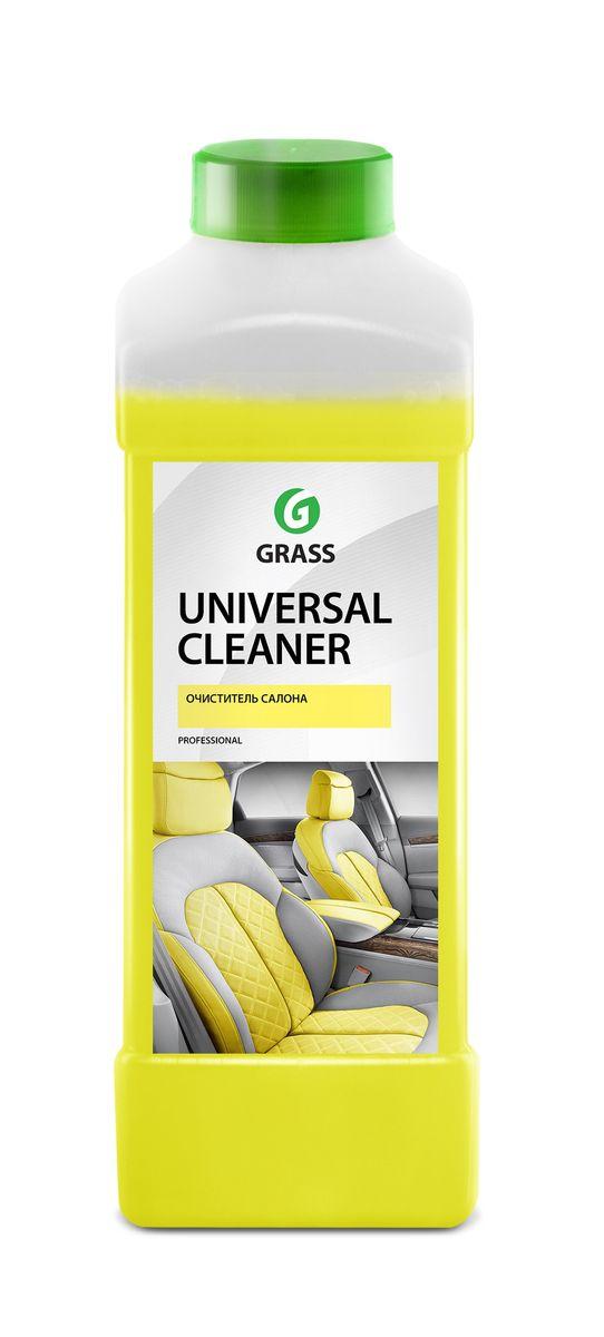 Очиститель салона Grass Universal Cleaner, 1 л112100Очиститель Grass Universal Cleaner имеет универсальный моющий состав для очистки салона автомобиля от любых загрязнений. Подходит для чистки любых видов ткани, искусственной кожи, пластика. Разводится с водой из расчета 50-100 г/л. Товар сертифицирован.