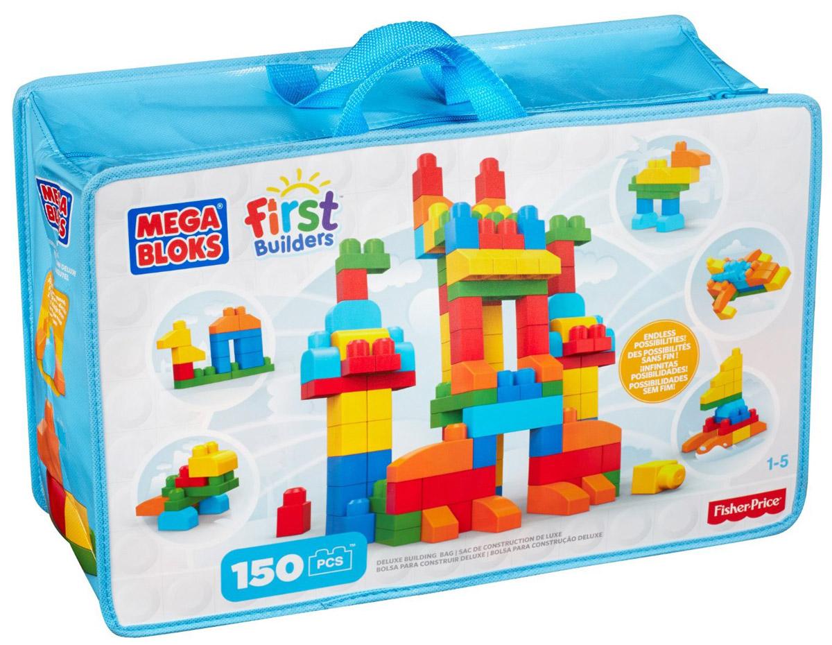 Mega Bloks First Builders Конструктор ДелюксCNM43Постройте и исследуйте множество конструкций с набором от Mega Bloks: First Builders Делюкс Из кубиков классических цветов вы можете строить высокие башни, невероятные замки, забавных существ и все, что ваш ребенок пожелает. Его яркие разноцветные блоки постоянно подталкивают детей к новым экспериментам, развивая у них воображение и творческое мышление. Крупные блоки отлично подходят для маленьких пальчиков. После игры все детали можно убрать в удобную сумку на застежке-молнии! Конструктор предназначен специально для самых маленьких строителей. Играя с конструктором, малыш отлично разовьет мелкую моторику рук, координацию движений, усидчивость, воображение и фантазию, пространственное мышление, а также познакомится с такими понятиями, как цвет, форма и размер предмета.