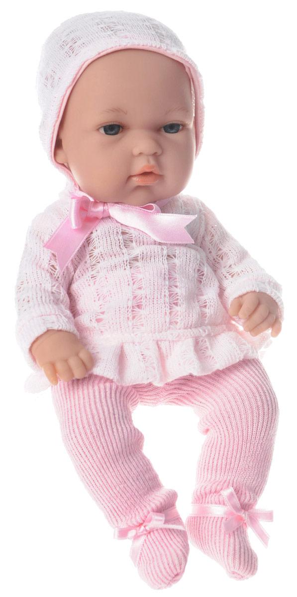 Arias Пупс Elegance в колготах и шапочке цвет розовыйТ58635Пупс Arias Elegance обязательно понравится вашей малышке! Очаровательная кукла, изготовленная из высококачественного материала, одета в розовый костюмчик, почти как у настоящих новорожденных, на голове - шапочка. Игра с пупсом разовьет в вашей малышке фантазию и любознательность, поможет овладеть навыками общения и научит ролевым играм, воспитает чувство ответственности и заботы. Порадуйте свою малышку таким великолепным подарком! Куклы Arias коллекции Elegance, изготовленные в Испании, это куклы превосходного качества и высокой детализации исполнения. Они действительно элегантны и тем самым притягательны с первого взгляда.