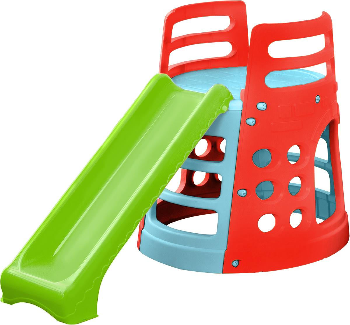 PalPlay Детская горка Башня377Кататься с горки - одно из самых любимых развлечений детей всех возрастов. Детская горка PalPlay занимает мало места, легко собирается и разбирается. Благодаря тому, что пластик, из которого сделана горка, устойчив к воздействию солнечных лучей и других природных явлений, использовать горку можно не только дома, но и на улице. Горка оснащена удобной лесенкой с безопасными ступенями, устойчива и надежна. Яркий дизайн обязательно понравится малышу. Горка предназначена для детей от 2 лет и весом до 30 кг.