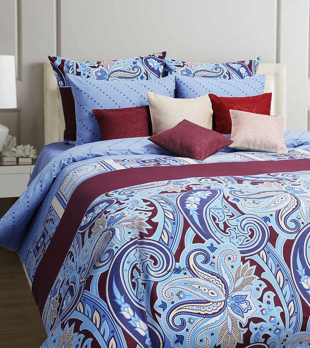 Комплект белья Mona Liza Bolero, 1,5-спальное, наволочки 70x70, цвет: синий551114/04Коллекция постельного белья MONA LIZA Classic поражает многообразием дизайнов. Среди них легко подобрать необходимый рисунок, который создаст в доме уют. Комплекты выполнены из бязи 100 % хлопка.