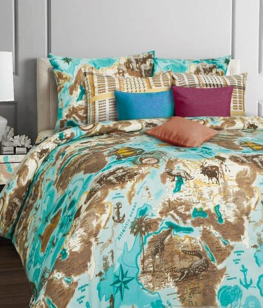 Комплект белья Mona Liza Cruise, 1,5-спальное, наволочки 70x70, цвет: белый, голубой551114/40Коллекция постельного белья MONA LIZA Classic поражает многообразием дизайнов. Среди них легко подобрать необходимый рисунок, который создаст в доме уют. Комплекты выполнены из бязи 100 % хлопка.