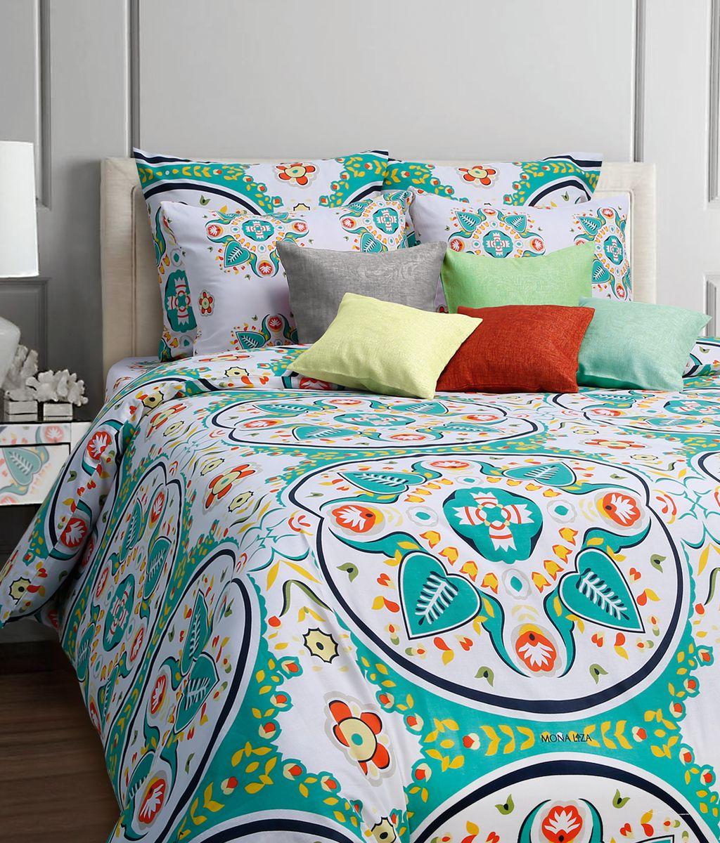 Комплект белья Mona Liza Blanche, 1,5-спальное, наволочки 50x70, цвет: светло-зеленый