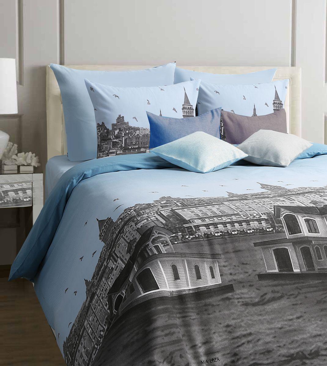Комплект белья Mona Liza Istanbul, евро, наволочки 70x70, цвет: голубой552109/10Коллекция постельного белья MONA LIZA Classic поражает многообразием дизайнов. Среди них легко подобрать необходимый рисунок, который создаст в доме уют. Комплекты выполнены из бязи 100 % хлопка.