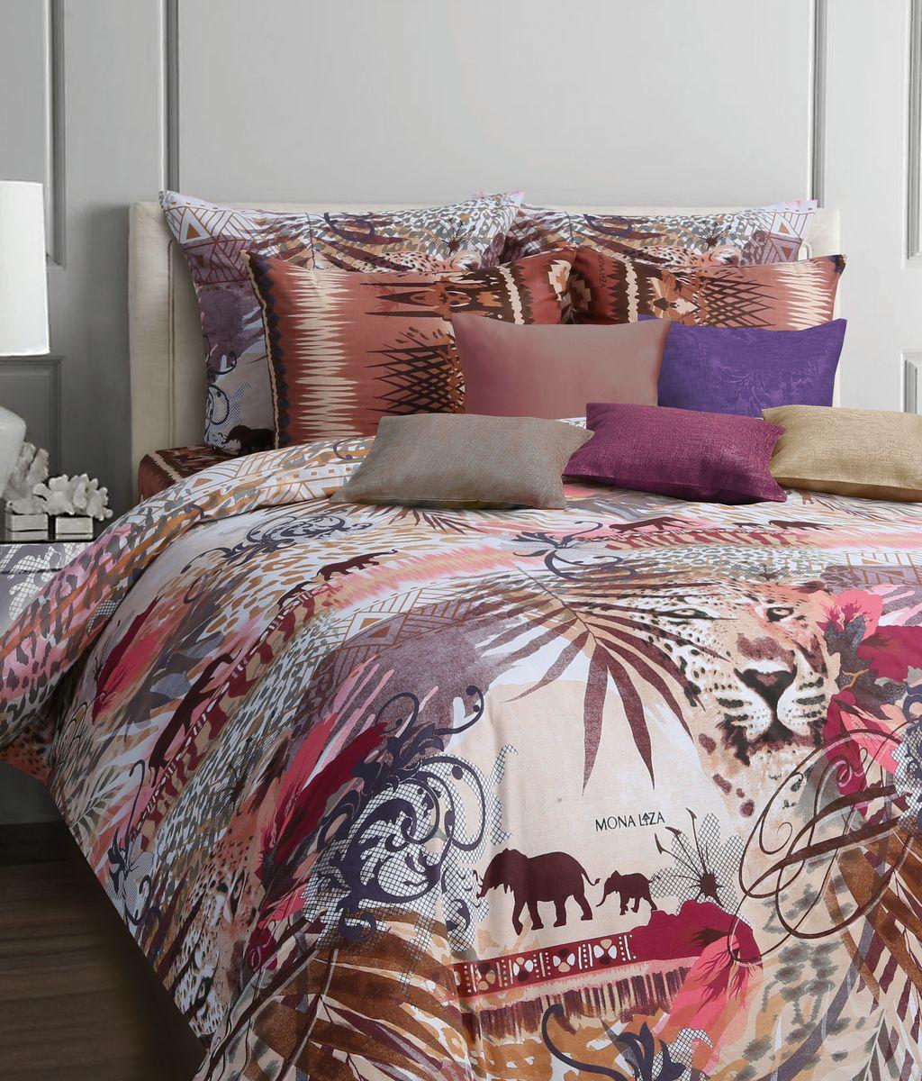 Комплект белья Mona Liza Safari, евро, наволочки 70x70, цвет: коричневый552109/21Коллекция постельного белья MONA LIZA Classic поражает многообразием дизайнов. Среди них легко подобрать необходимый рисунок, который создаст в доме уют. Комплекты выполнены из бязи 100 % хлопка.