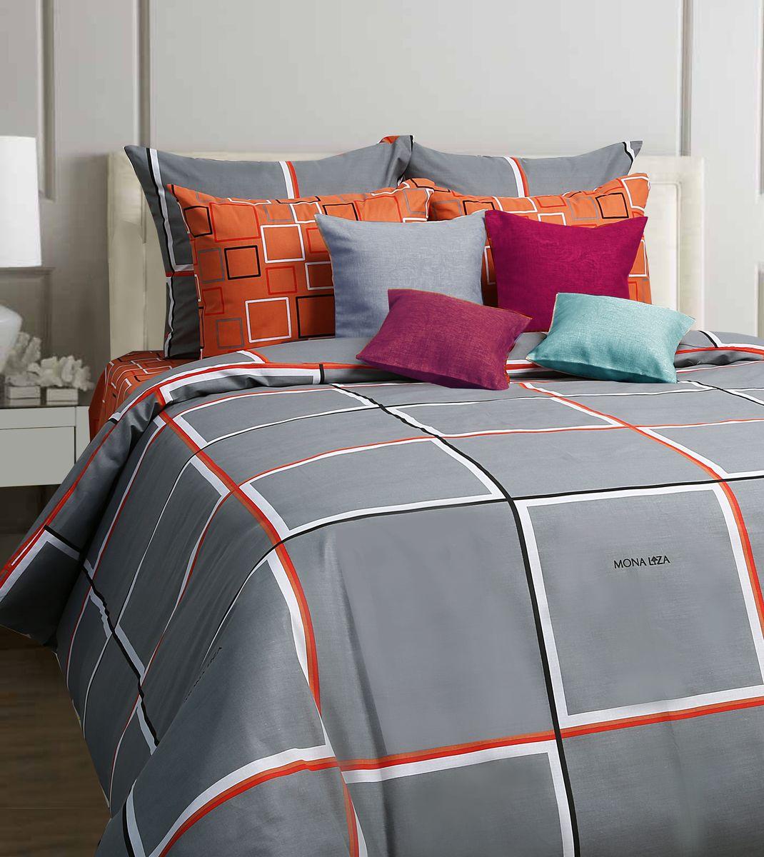 Комплект белья Mona Liza Jack, 2-спальное, наволочки 70x70, цвет: серый552203/07Коллекция постельного белья MONA LIZA Classic поражает многообразием дизайнов. Среди них легко подобрать необходимый рисунок, который создаст в доме уют. Комплекты выполнены из бязи 100 % хлопка.