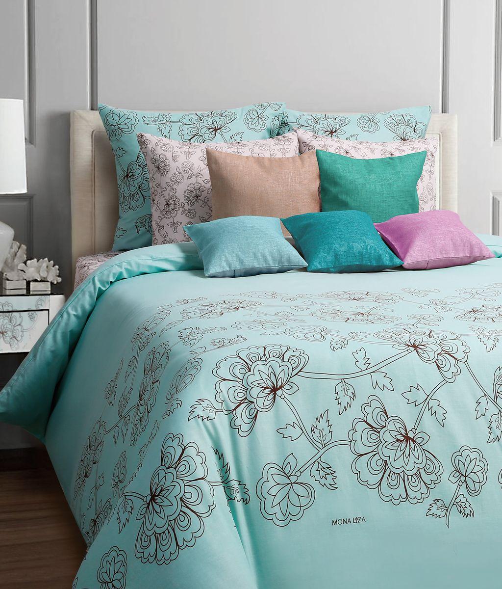 Комплект белья Mona Liza Soho, 2-спальное, наволочки 70x70, цвет: бирюзовый552203/661Коллекция постельного белья MONA LIZA Classic поражает многообразием дизайнов. Среди них легко подобрать необходимый рисунок, который создаст в доме уют. Комплекты выполнены из бязи 100 % хлопка.