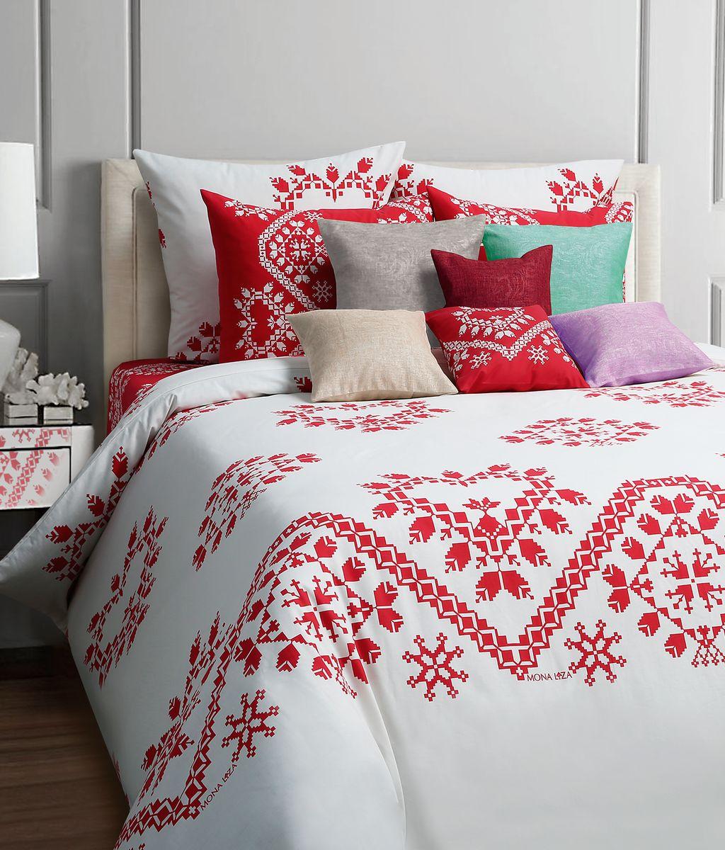 Комплект белья Mona Liza Folk, 2-спальное, наволочки 50x70, цвет: красный552205/05Коллекция постельного белья MONA LIZA Classic поражает многообразием дизайнов. Среди них легко подобрать необходимый рисунок, который создаст в доме уют. Комплекты выполнены из бязи 100 % хлопка.
