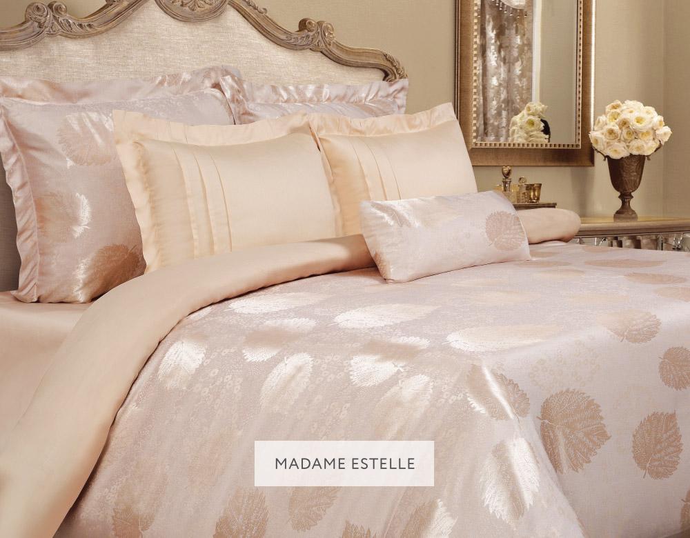 Комплект белья Mona Liza Madam Estelle, 2-спальное, наволочки 50х70 и 70x705538/20Комплект постельного белья Mona Liza Madam Estelle выполнен из комбинации сатина и натуральной вискозы. Данный состав придает ткани шелковистость, прочность и гидроскопичность, по своим качествам, в том числе визуальным, не уступает шелку. Комплект состоит из пододеяльника, простыни и четырех наволочек. Изделия оформлены благородным орнаментом. Пододеяльник на пуговицах. Элегантный стиль, несравненное качество, изысканный рельефный рисунок и приятные оттенки придают постельному белью богатый и утонченный вид.