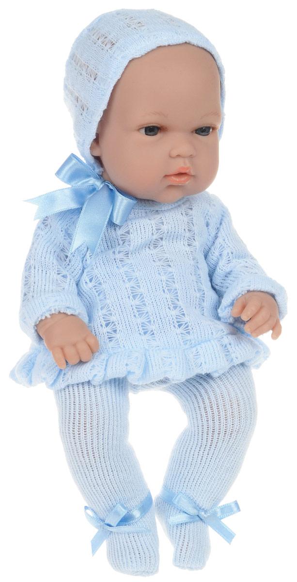 Arias Пупс Elegance в колготах и шапочке цвет голубойТ58636Пупс Arias Elegance обязательно понравится вашей малышке! Очаровательный пупс, изготовленный из высококачественного материала, одет в голубой костюмчик, как у настоящих малышей, на голове - шапочка. Игра с пупсом разовьет в вашей малышке фантазию и любознательность, поможет овладеть навыками общения и научит ролевым играм, воспитает чувство ответственности и заботы. Порадуйте свою малышку таким великолепным подарком! Куклы Arias коллекции Elegance, изготовленные в Испании, это куклы превосходного качества и высокой детализации исполнения каждой части. Они действительно элегантны и тем самым притягательны с первого взгляда.