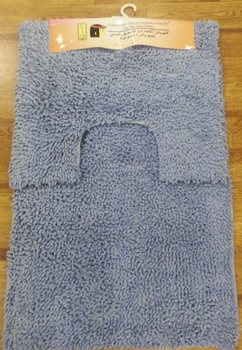 Набор ковриков для ванной Shee Sai International, цвет: голубой, 60 х 90 см + 60 х 50 см15343/голИзготовленные из натурального индийского хлопка,легко стираются,мягкие и приятные на ощупь.