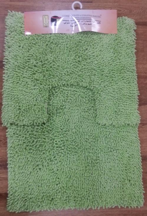 Набор ковриков для ванной Shee Sai International, цвет: зеленый, 60 х 90 см + 60 х 50 см15343/зелИзготовленные из натурального индийского хлопка,легко стираются,мягкие и приятные на ощупь.