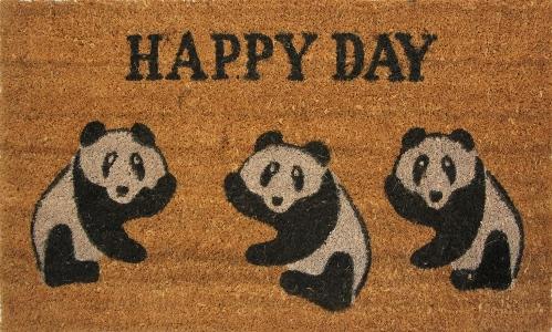 Коврик придверный Кокос. Панда, цвет: черный, 45 х 75 см163/пандаЭкологически чистое кокосовое волокно обладает природной прочностью,устойчивостью к истиранию и долговечностью,поэтому с успехом применяется в изготовлении придверных ковриков.