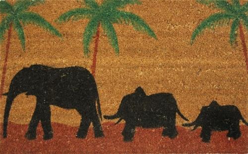 Коврик придверный Кокос. Слон, цвет: черный, 45 х 75 см163/слонЭкологически чистое кокосовое волокно обладает природной прочностью,устойчивостью к истиранию и долговечностью,поэтому с успехом применяется в изготовлении придверных ковриков.