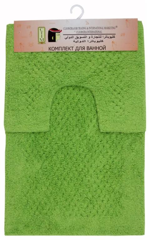 Набор ковриков для ванной Chinar International, цвет: зеленый, 50 х 80 см + 50 х 40 см17253/зелИзготовленные из натурального индийского хлопка,легко стираются,мягкие и приятные на ощупь.