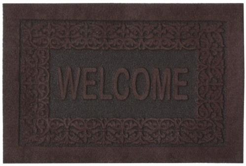 Коврик придверный Efco Оскар, цвет: коричневый, 40 х 60 см18532/корГрязезащитные придверные коврики на латексной основе легко чистятся и моются.
