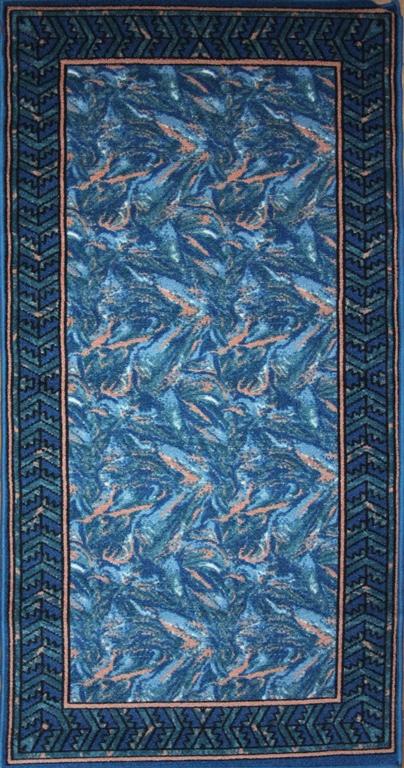 Коврик для ванной MAC Carpet Розетта, цвет: синий, 80 х 150 см21329/синКоврики из нейлона на резиновой основе с успехом могут применяться как в ванных комнатах ,так и во всех других помещениях,где необходима защита от влаги.Нейлон обеспечивает повышенную износостойкость и простоту в уходе.
