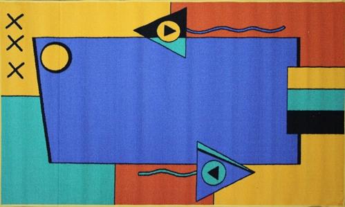 Коврик для ванной MAC Carpet Розетта, цвет: желтый, 100 х 160 см21335/абстрКоврики из нейлона на резиновой основе с успехом могут применяться как в ванных комнатах ,так и во всех других помещениях,где необходима защита от влаги.Нейлон обеспечивает повышенную износостойкость и простоту в уходе.