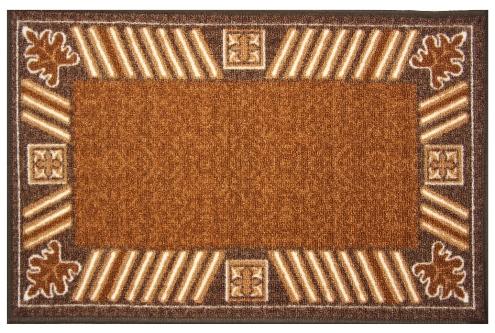 Коврик для ванной MAC Carpet Розетта, цвет: коричневый, 44 х 70 см21404/корКоврики из нейлона на резиновой основе с успехом могут применяться как в ванных комнатах ,так и во всех других помещениях,где необходима защита от влаги.Нейлон обеспечивает повышенную износостойкость и простоту в уходе.