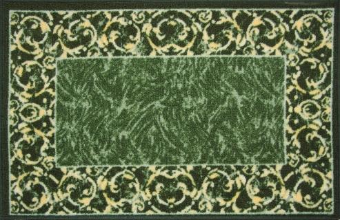 Коврик для ванной MAC Carpet Розетта, цвет: зеленый, 50 х 76 см21680/зелКоврики из нейлона на резиновой основе с успехом могут применяться как в ванных комнатах ,так и во всех других помещениях,где необходима защита от влаги.Нейлон обеспечивает повышенную износостойкость и простоту в уходе.