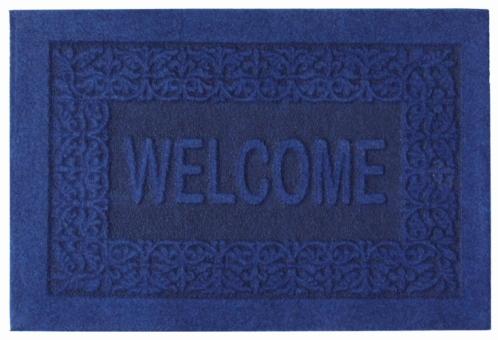 Коврик придверный Efco Оскар, цвет: синий, 40 х 60 см18532/синийГрязезащитные придверные коврики на латексной основе легко чистятся и моются.