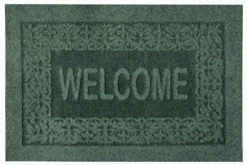 Коврик придверный Efco Оскар, цвет: зеленый, 40 х 60 см18532/зелГрязезащитные придверные коврики на латексной основе легко чистятся и моются.