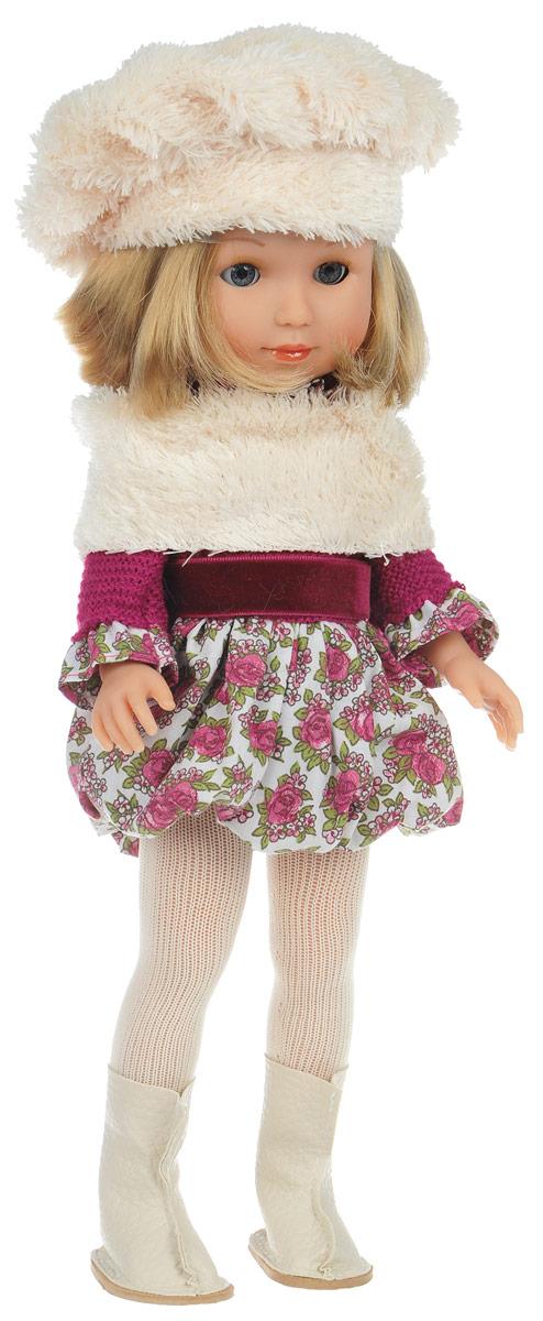 Arias Кукла Elegance в берете и сапожкахТ58649Кукла Arias Elegance обязательно привлечет внимание вашей дочурки. Кукла одета в теплое платье бордового цвета, нижняя часть которого украшена розочками, светлые колготки и сапоги. Кукла обладает стильной прической, а берет и шарф придают ей французский шарм. Игрушка оснащена функциональными руками, ногами и закрывающимися глазками. Ребенок сможет причесывать, переодевать и купать элегантную куклу. Благодаря играм с куклой, ваша малышка сможет развить фантазию и любознательность, овладеть навыками общения и научиться ответственности, а дополнительные аксессуары сделают игру еще увлекательнее.