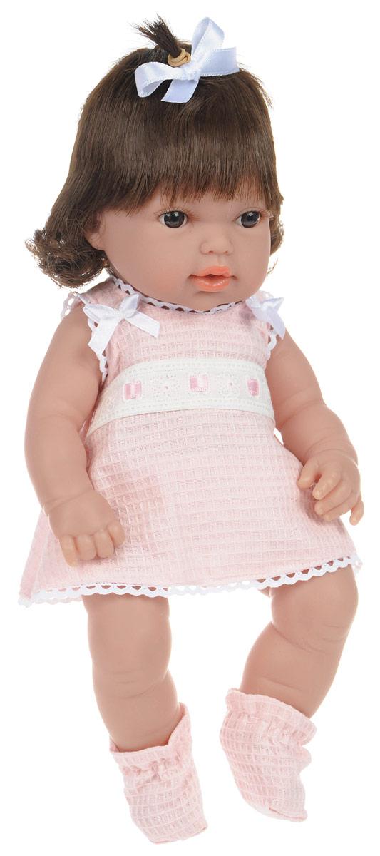 Arias Пупс Elegance цвет наряда светло-розовыйТ58637_светло-розовыйКуклы Arias коллекции Elegance, изготовленные в Испании, это куклы превосходного качества и высокой детализации исполнения каждой части. Они действительно элегантны и тем самым притягательны с первого взгляда. Кукла выполнена с анатомической точностью и выглядит совсем как настоящий малыш. Ручки, ножки и голова подвижны и изготовлены из высококачественного материала. Пупс одет в нарядное платье, трусики и носочки, которые легко снимаются с ножек. Благодаря играм с куклой, ваша малышка сможет развить фантазию и любознательность, овладеть навыками общения и научиться ответственности. Порадуйте свою принцессу таким прекрасным подарком!