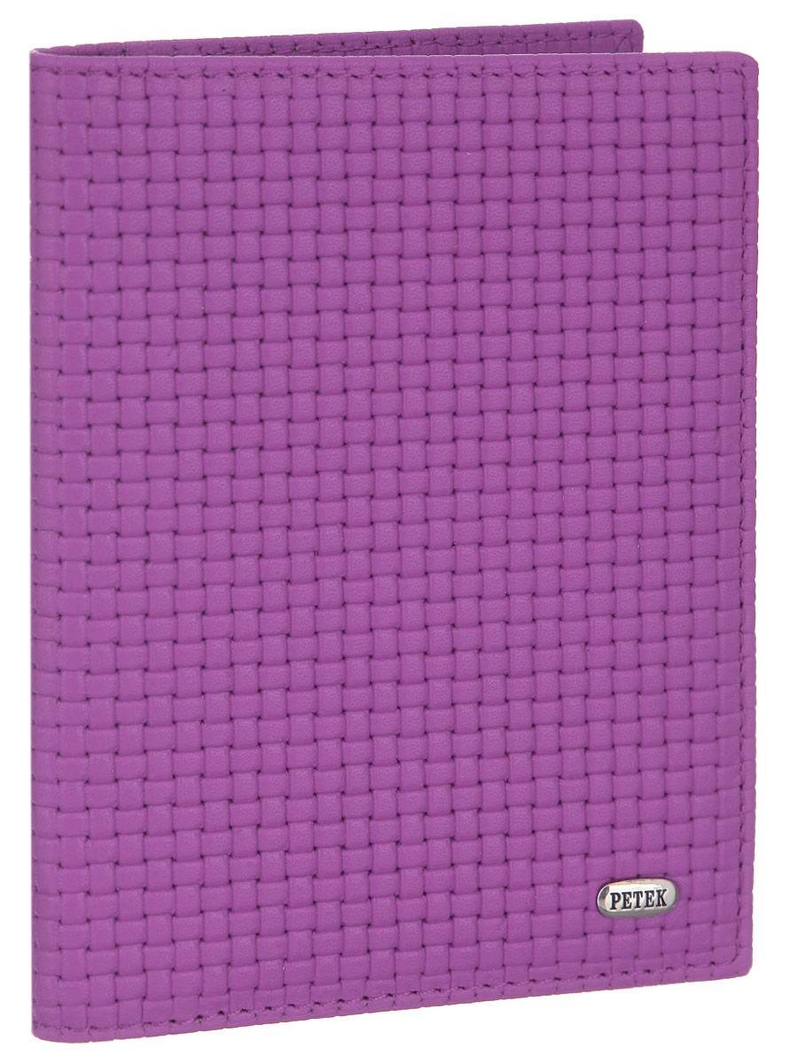 Обложка для автодокументов женская Petek 1855, цвет: пурпурный. 584.020.16584.020.16 PurpleЖенская обложка для автодокументов Petek 1855 выполнена из высококачественной натуральной кожи с тиснением под плетение. На внутреннем развороте - съемный блок из шести прозрачных файлов из мягкого пластика, один из которых формата А5, два боковых кармана, один из которых сетчатый, и четыре прорезных кармашка для визиток и пластиковых карт. Обложка не только поможет сохранить внешний вид ваших документов и защитит их от повреждений, но и станет стильным аксессуаром, который подчеркнет ваш неповторимый стиль.