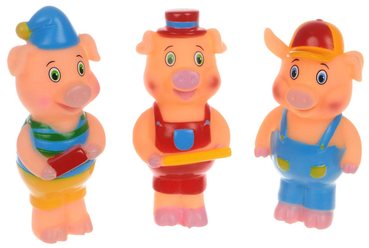 Играем вместе Набор игрушек для ванной Три поросенка 3 шт157RUS-PVCНабор игрушек для ванной Играем вместе Три поросенка обязательно понравится вашему малышу и превратит купание в веселый и увлекательный процесс. Игрушки выполнены в виде героев мультфильма Три поросенка. При нажатии на игрушку раздается громкий писк. Игрушки способствуют развитию внимательности, мелкой моторики рук, воображения, зрительного восприятия.