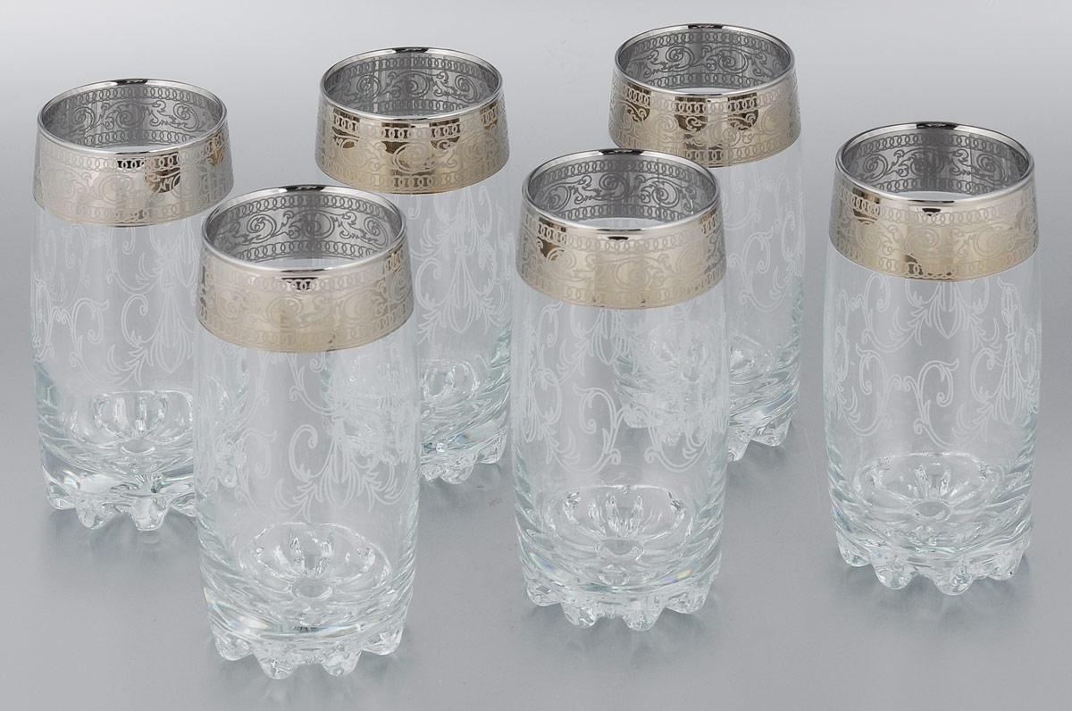 Набор стаканов для коктейлей Мусатов Венеция, 390 мл, 6 шт812-32Набор Мусатов Венеция состоит из 6 стаканов для коктейлей, изготовленных из высококачественного натрий-кальций-силикатного стекла. Изделия оформлены красивой окантовкой. Такой набор прекрасно дополнит праздничный стол и станет желанным подарком в любом доме. Разрешается мыть в посудомоечной машине. Диаметр стакана (по верхнему краю): 6 см. Высота стакана: 14,5 см.