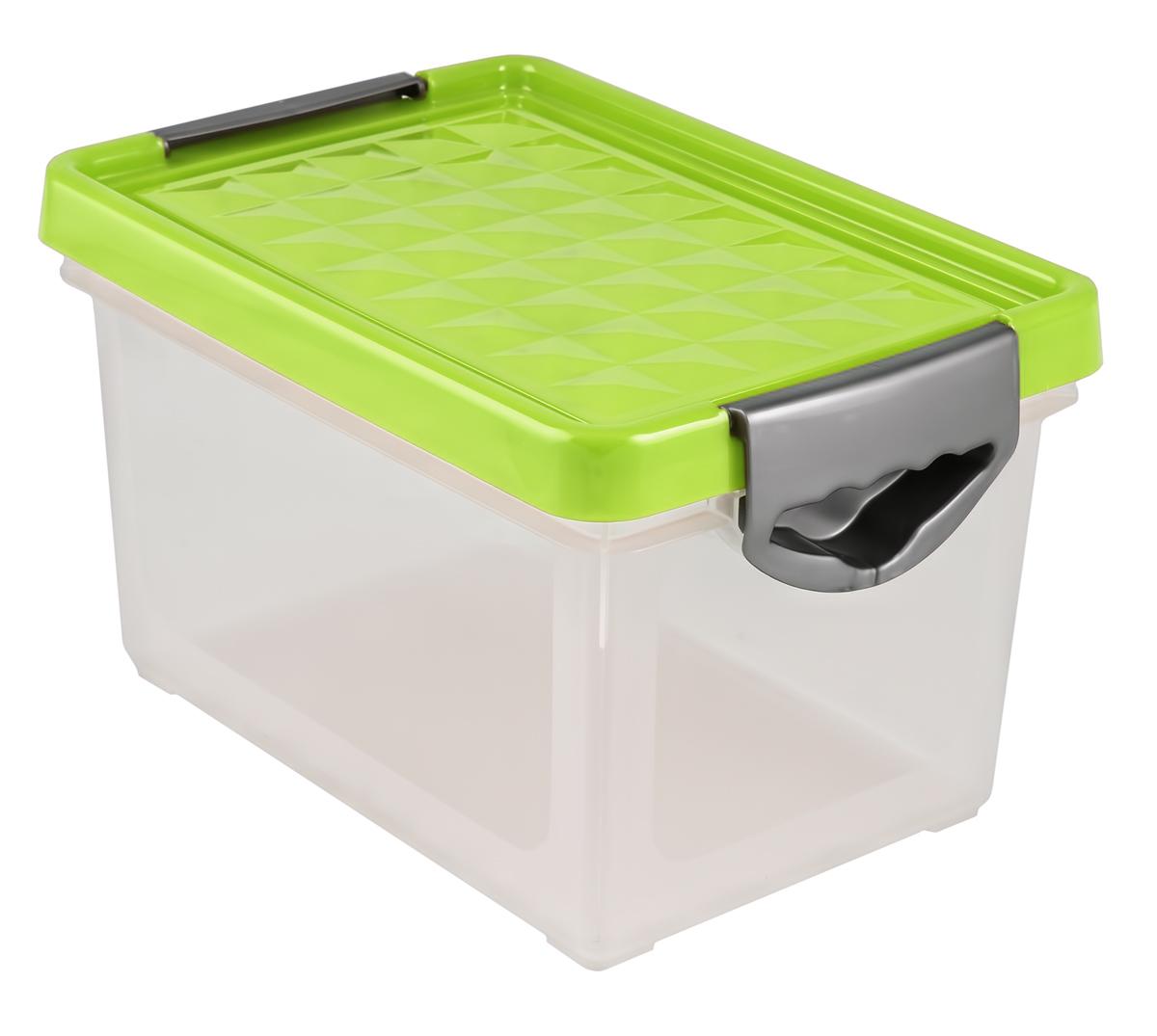 Ящик для хранения BranQ Systema, на колесиках, цвет: зеленый, прозрачный, 19 лBQ1002ЗЛПРУниверсальный ящик для хранения BranQ Systema, выполненный из прочного пластика, поможет правильно организовать пространство в доме и сэкономить место. В нем можно хранить все, что угодно: одежду, обувь, детские игрушки и многое другое. Прочный каркас ящика позволит хранить как легкие вещи, так и переносить собранный урожай овощей или фруктов. Изделие оснащено крышкой, которая защитит вещи от пыли, грязи и влаги. Эргономичные ручки-защелки, позволяют переносить ящик как с крышкой, так и без нее.