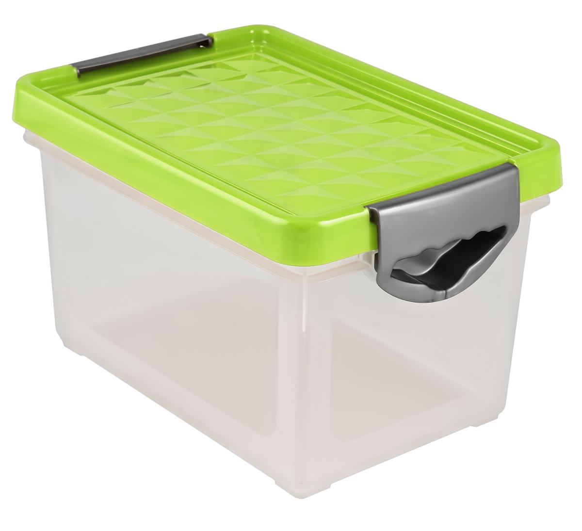 Ящик для хранения BranQ Systema, на колесиках, цвет: зеленый, прозрачный, 48 лBQ1003ЗЛПРУниверсальный ящик для хранения BranQ Systema, выполненный из прочного пластика, поможет правильно организовать пространство в доме и сэкономить место. В нем можно хранить все, что угодно: одежду, обувь, детские игрушки и многое другое. Прочный каркас ящика позволит хранить как легкие вещи, так и переносить собранный урожай овощей или фруктов. Изделие оснащено крышкой, которая защитит вещи от пыли, грязи и влаги. Эргономичные ручки-защелки, позволяют переносить ящик как с крышкой, так и без нее.