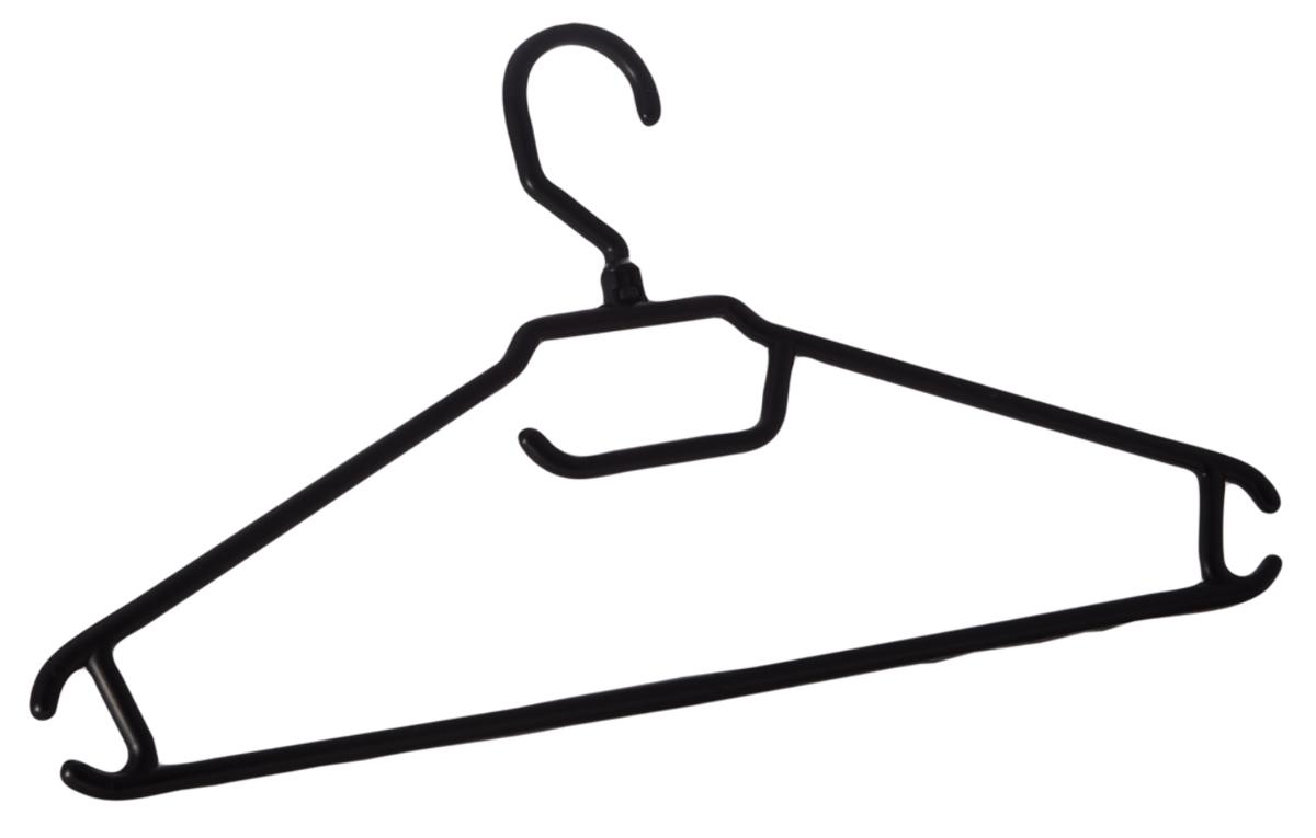 Вешалка BranQ, с перекладиной, размер 52-54BQ1893ЧРВешалка BranQ изготовлена из прочного пластика и предназначена для облегченных для легкой одежды. Она оснащена закругленными плечиками, перекладиной и крючками. Вешалка - это незаменимая вещь для того, чтобы ваша одежда всегда оставалась в хорошем состоянии.