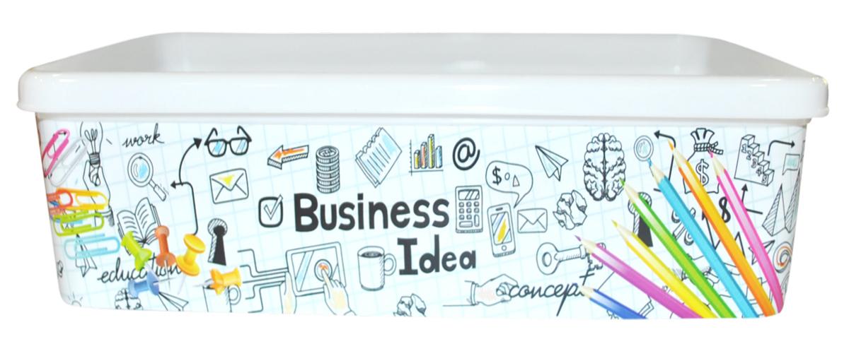 Органайзер для мелочей BranQ Тысяча Мелочей, 200 х 135 х 65 ммBQ2253ТМЛЛоток удобно использовать для хранения мелких предметов на рабочем столе: карандаши, фломастеры и многое другое. Лоток декоррирован ярким принтом Business Idea, что делает его привлекательным и современным.