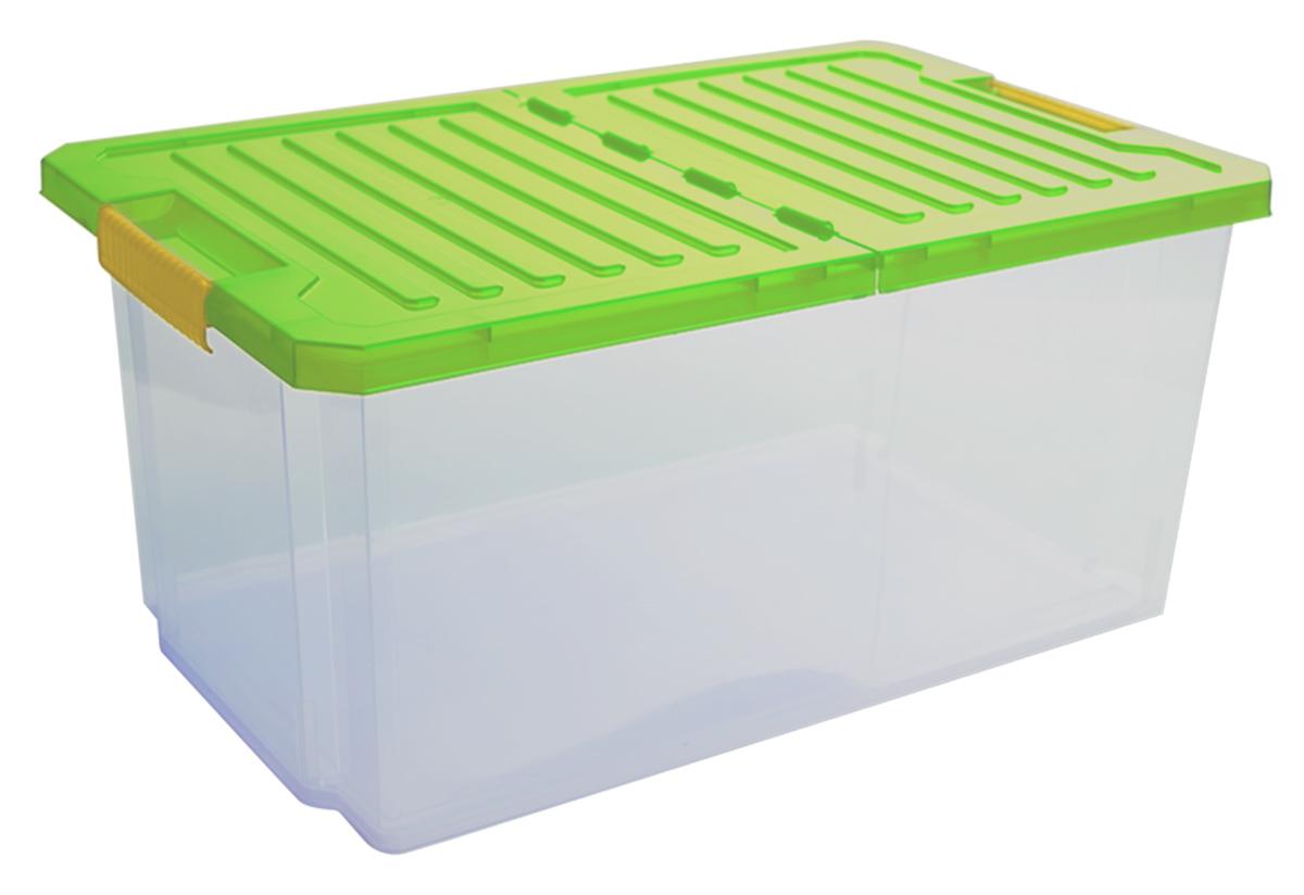 Ящик для хранения BranQ Unibox, цвет: зеленый, прозрачный, 12 лBQ2561ЗЛПРУниверсальный ящик для хранения BranQ Unibox, выполненный из прочного пластика, поможет правильно организовать пространство в доме и сэкономить место. В нем можно хранить все, что угодно: одежду, обувь, детские игрушки и многое другое. Прочный каркас ящика позволит хранить как легкие вещи, так и переносить собранный урожай овощей или фруктов. Изделие оснащено складной крышкой, которая защитит вещи от пыли, грязи и влаги. Эргономичные ручки- защелки позволяют переносить ящик как с крышкой, так и без нее.