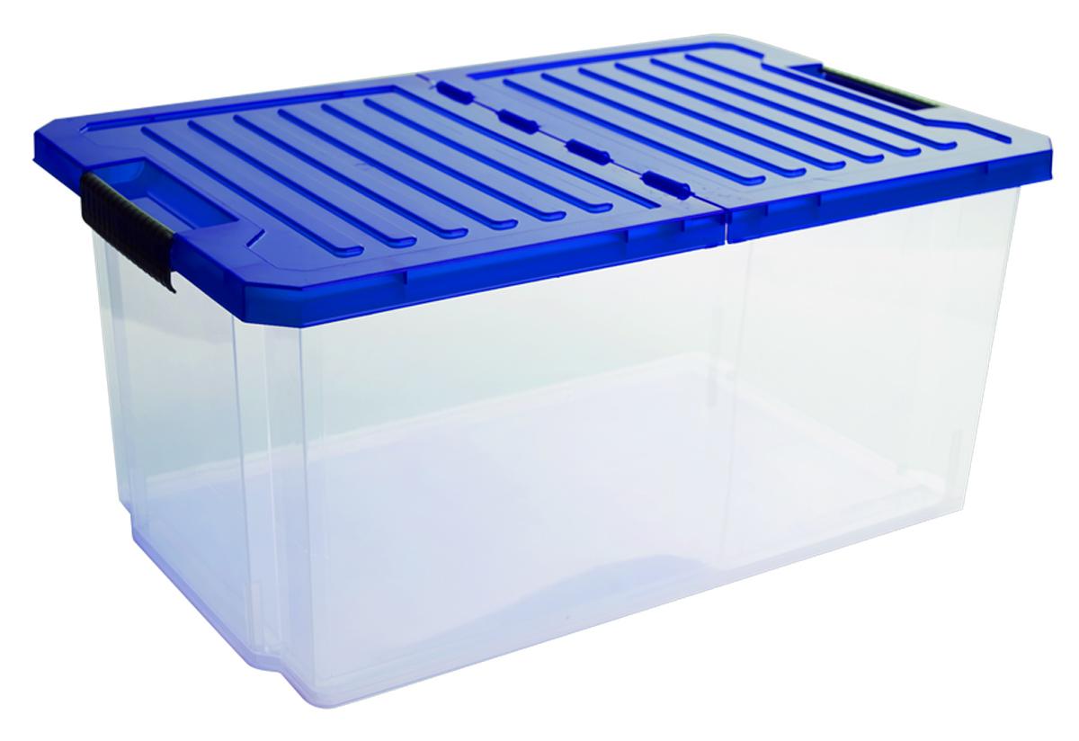 Ящик для хранения BranQ Unibox, цвет: синий, прозрачный, 12 лBQ2561СНЛЕГОУниверсальный ящик для хранения BranQ Unibox, выполненный из прочного пластика, поможет правильно организовать пространство в доме и сэкономить место. В нем можно хранить все, что угодно: одежду, обувь, детские игрушки и многое другое. Прочный каркас ящика позволит хранить как легкие вещи, так и переносить собранный урожай овощей или фруктов. Изделие оснащено складной крышкой, которая защитит вещи от пыли, грязи и влаги. Эргономичные ручки- защелки, позволяют переносить ящик как с крышкой, так и без нее.