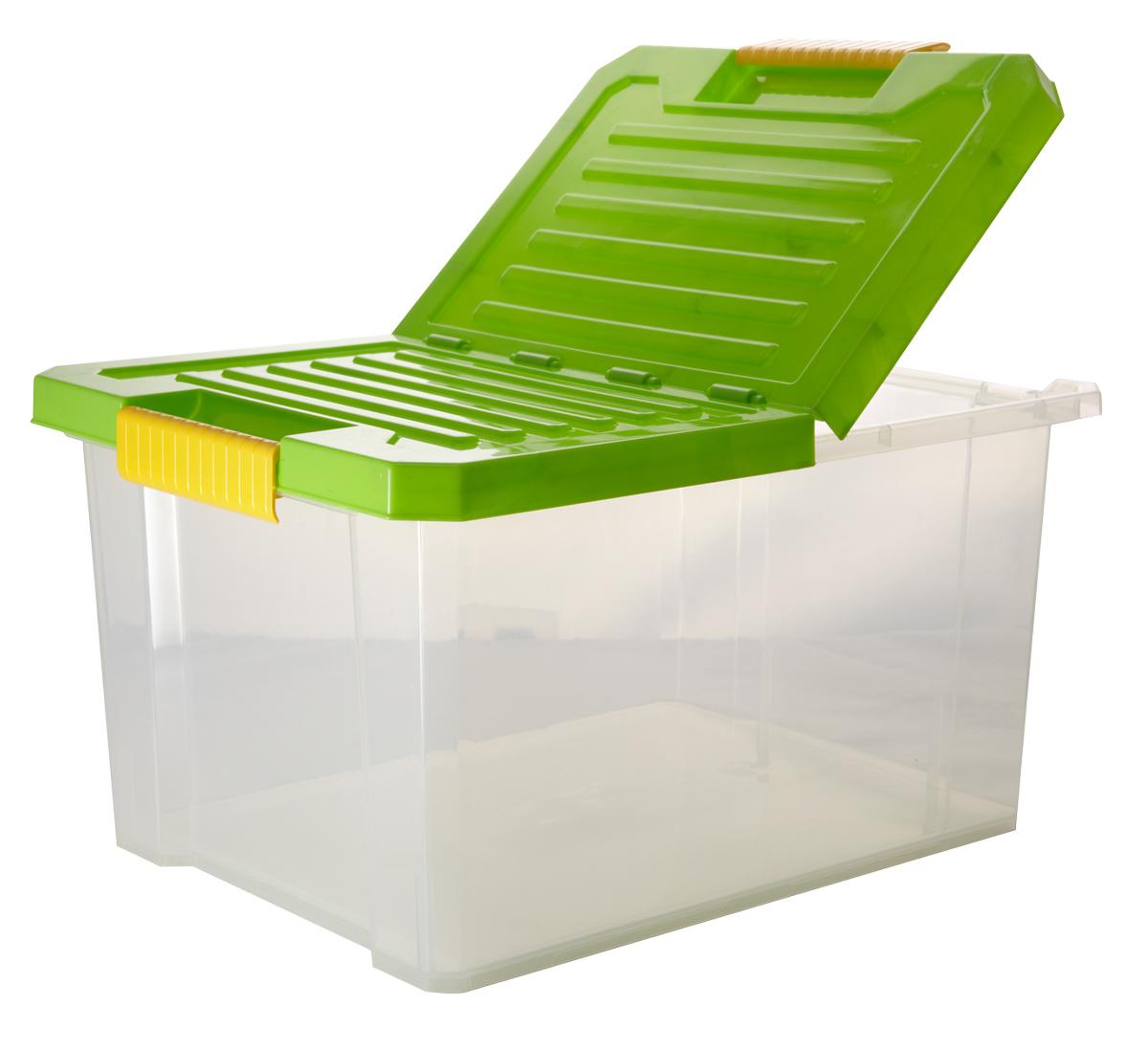 Ящик для хранения BranQ Unibox, цвет: зеленый, прозрачный, 17 лBQ2562ЗЛПРУниверсальный ящик для хранения BranQ Unibox, выполненный из прочного пластика, поможет правильно организовать пространство в доме и сэкономить место. В нем можно хранить все, что угодно: одежду, обувь, детские игрушки и многое другое. Прочный каркас ящика позволит хранить как легкие вещи, так и переносить собранный урожай овощей или фруктов. Изделие оснащено складной крышкой, которая защитит вещи от пыли, грязи и влаги. Эргономичные ручки-защелки, позволяют переносить ящик как с крышкой, так и без нее.