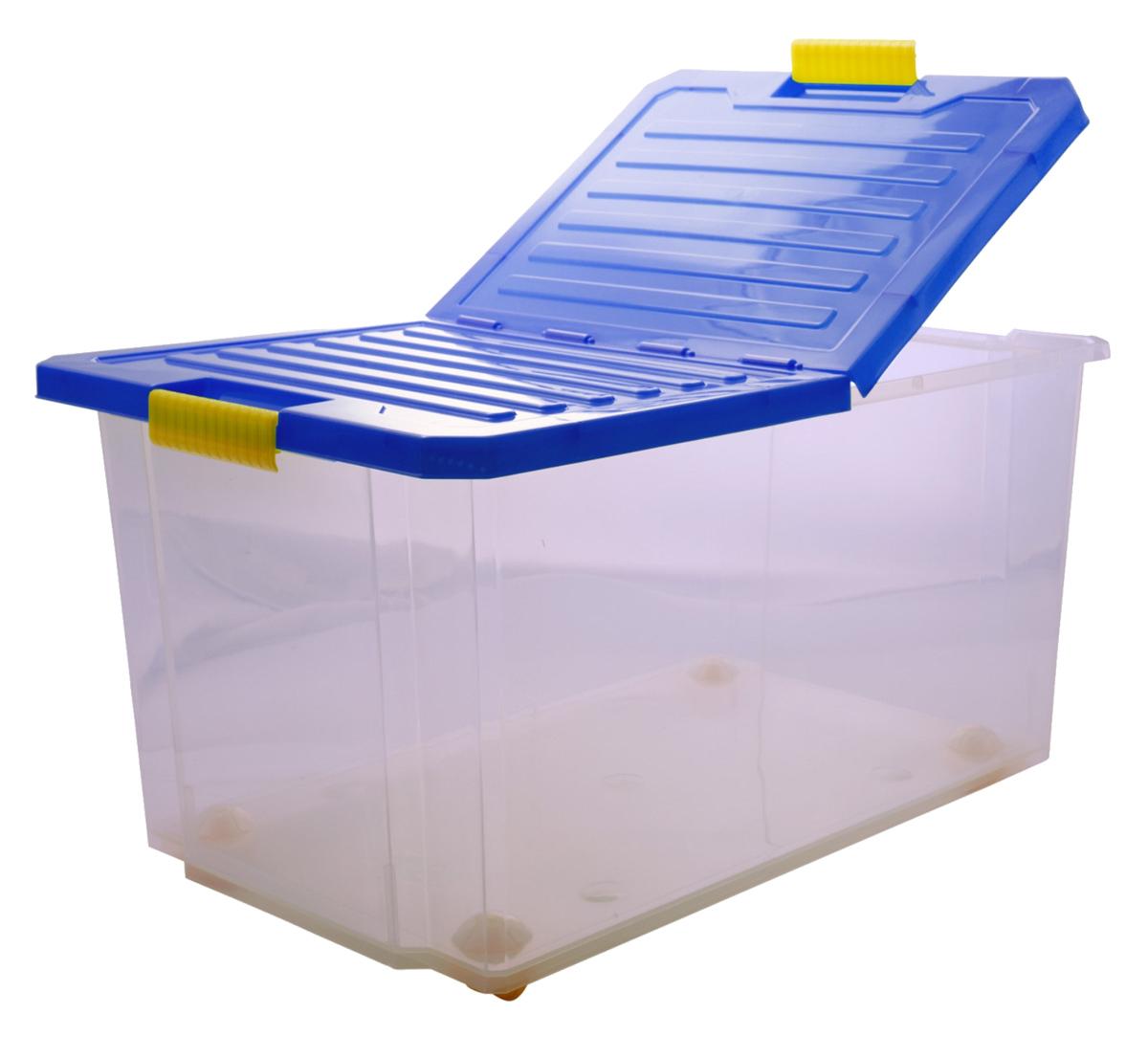 Ящик для хранения BranQ Unibox, цвет: синий, 610 х 405 х 330 ммBQ2566СНЛЕГОУниверсальный ящик для хранения со складной крышкой. В нем можно хранить все, что угодно: одежду, обувь, детские игрушки и т.п. Прочный каркас ящика позволит хранить как легкие вещи, так и переносить собранный урожай овощей или фруктов. Наш ящик имеет эргономичные защелки-ручки, поэтому его удобно переносить как с крышкой, так и без крышки.