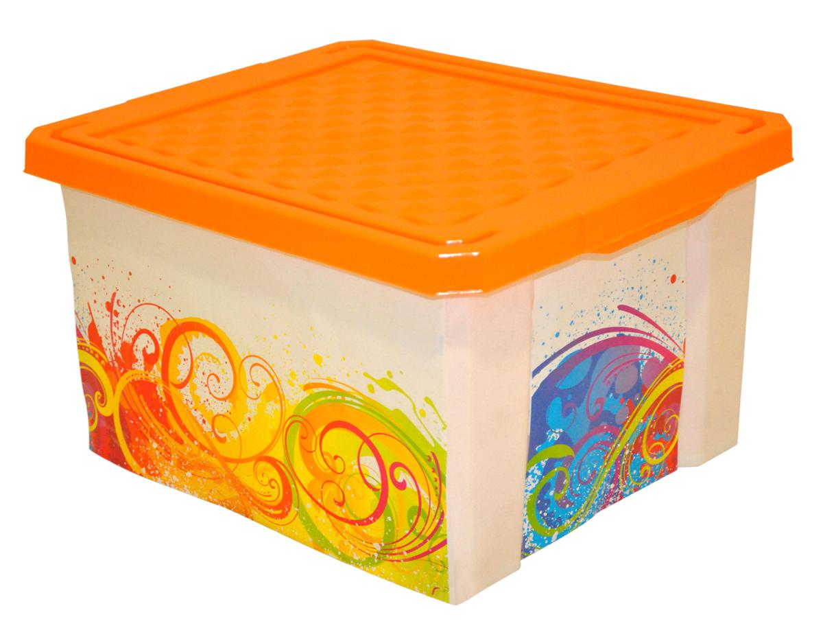Ящик для хранения BranQ Optima. Брызги, 17 лBQ2584БРУниверсальный ящик для хранения BranQ Optima. Брызги, выполненный из прочного пластика, поможет правильно организовать пространство в доме и сэкономить место. Ящик, декорированный оригинальным принтом, впишется в любой интерьер и дополнит его. В нем можно хранить все, что угодно: одежду, обувь, детские игрушки и многое другое. Прочный каркас ящика позволит хранить как легкие вещи, так и переносить собранный урожай овощей или фруктов. Изделие оснащено крышкой, которая защитит вещи от пыли, грязи и влаги.
