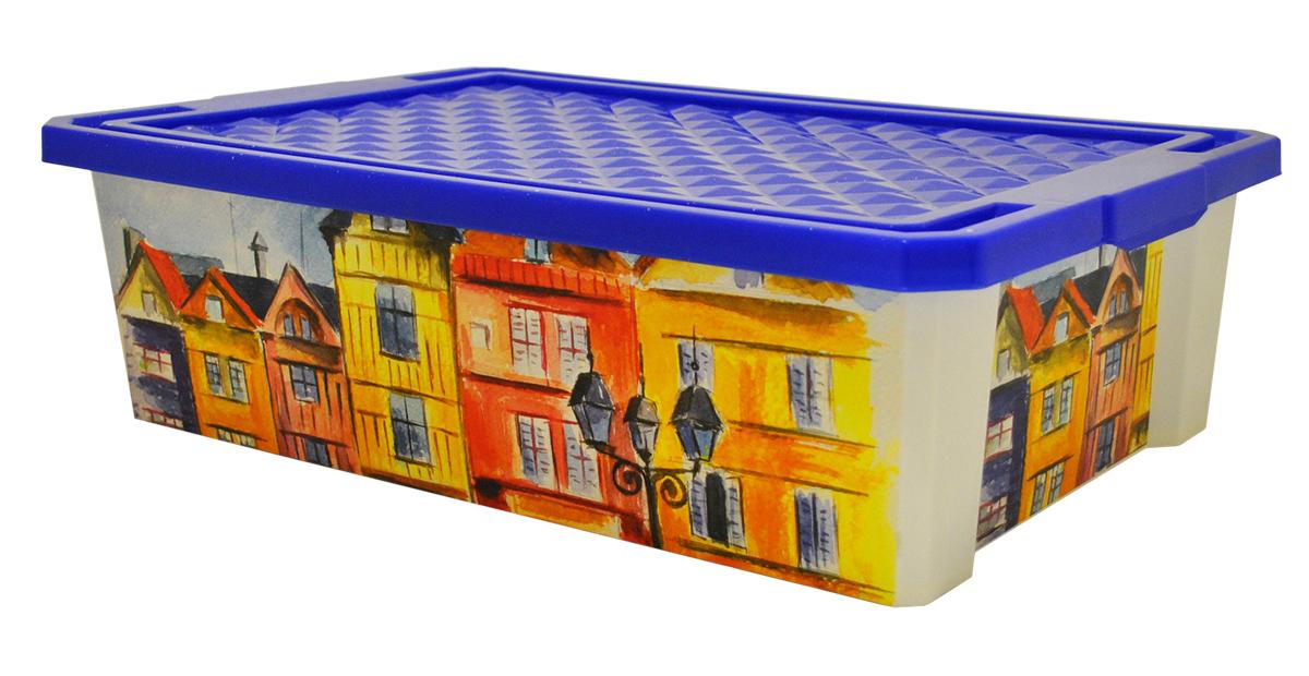 Ящик для хранения BranQ Optima. Город, 30 лBQ2585ГРУниверсальный ящик для хранения BranQ Optima. Город, выполненный из прочного пластика, поможет правильно организовать пространство в доме и сэкономить место. Ящик, декорированный оригинальным принтом, впишется в любой интерьер и дополнит его. В нем можно хранить все, что угодно: одежду, обувь, детские игрушки и многое другое. Прочный каркас ящика позволит хранить как легкие вещи, так и переносить собранный урожай овощей или фруктов. Изделие оснащено крышкой, которая защитит вещи от пыли, грязи и влаги.