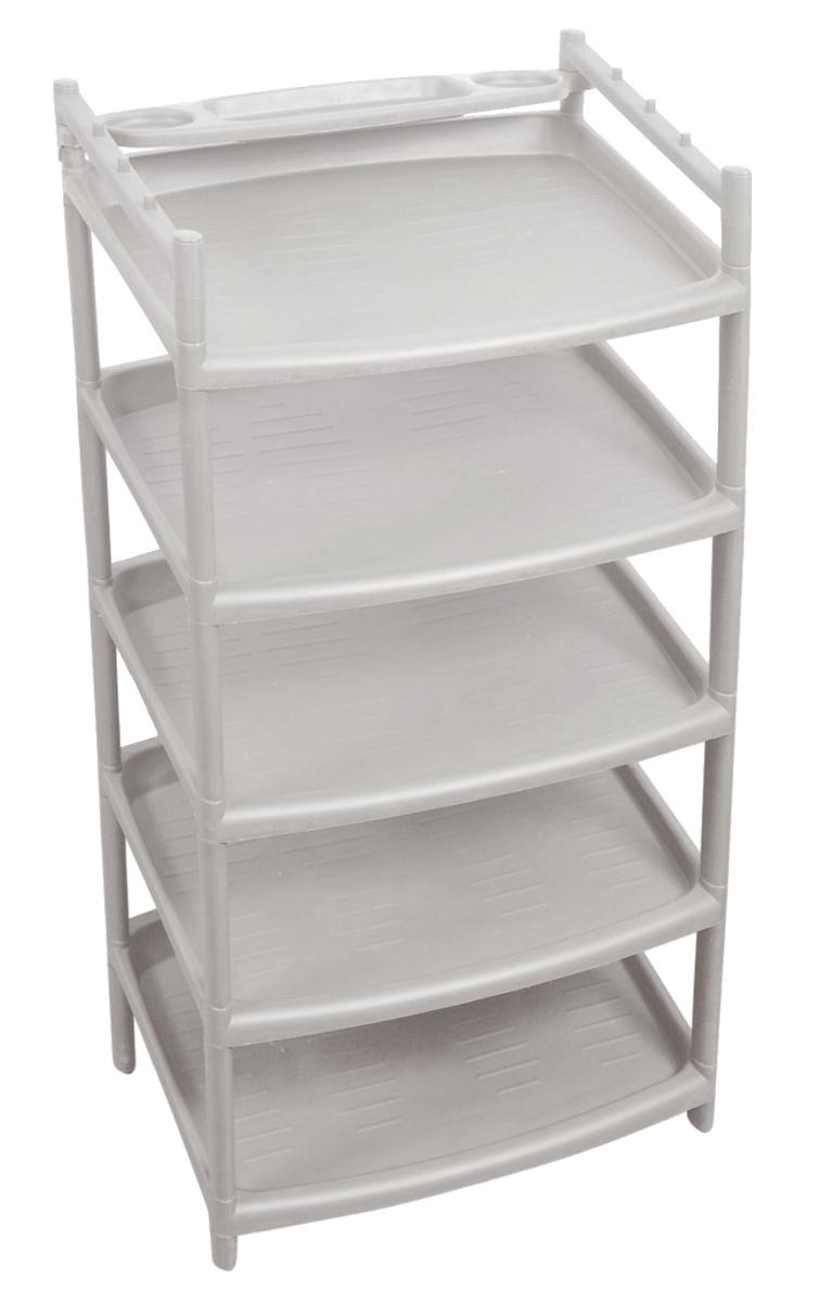 "Этажерка для обуви ""Blocker"", 5 полок, цвет: серый, 505 х 465 х 230 мм ( BQ2810СР )"