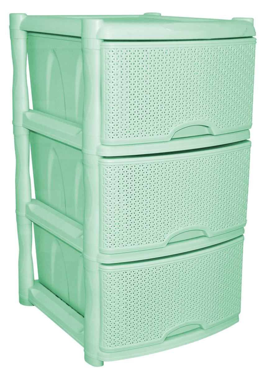 Комод BranQ «Natural Style», цвет: фисташковый, 3 секции. BQ3772ФСТ  купить пуфик в гостиную