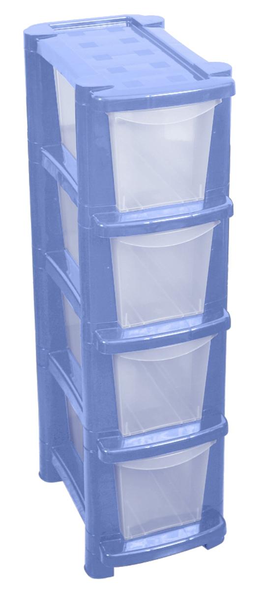 Комод BranQ Deco, цвет: голубой, 4 секцииBQ3780ГЛПКомод BranQ Deco изготовлен из высококачественного пластика. Комод предназначен для хранения различных вещей и состоит из четырех вместительных выдвижных секций. Такой комод надежно защитит вещи от загрязнений, пыли и моли, а также позволит вам хранить их компактно и с удобством. Стильный дизайн комода дополнит интерьер комнаты.